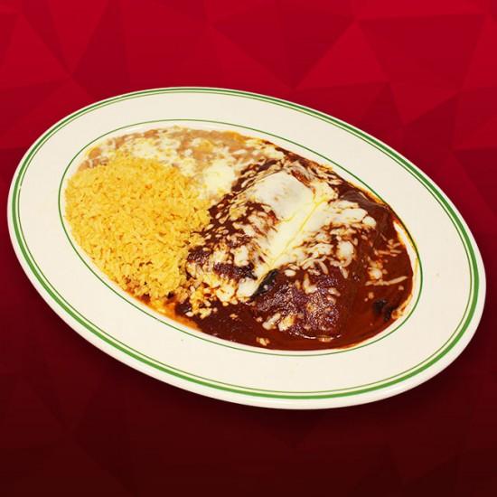 Two Mole Poblano Enchiladas