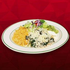 #A Green Enchilada - Chicken with Spinach