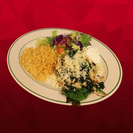 #C Tostada - Chicken with Spinach